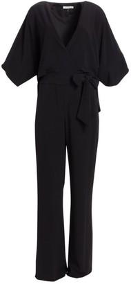 Halston Wrap Front Jumpsuit
