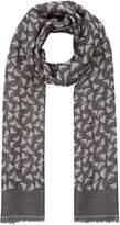 Max Mara Lambro grey geometric printed scarf