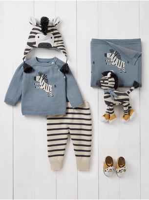 Elegant Baby Zebra Outfit, Blanket & Toy Set