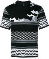 Neil Barrett Printed Short Sleeve Neoprene Sweatshirt