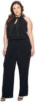 MICHAEL Michael Kors Plus Size Solid Stud Tie Jumpsuit Women's Jumpsuit & Rompers One Piece