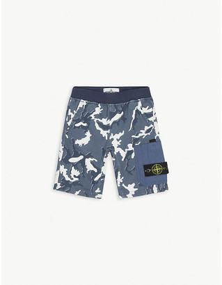 Stone Island Camouflage-printed cotton jersey shorts 4-14 years