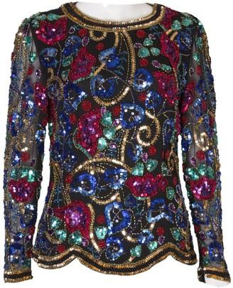 Oleg Cassini Multicolour Glitter Top for Women Vintage