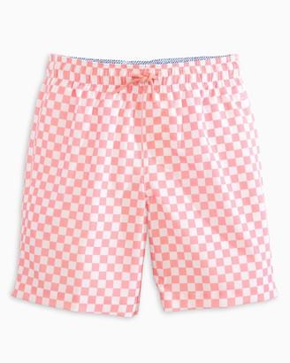 Southern Tide Boys Checkerboard Swim Trunk