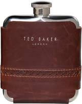 Ted Baker Brogue Hip Flask - Walnut