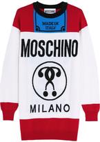 Moschino Oversized Intarsia Wool Sweater - White