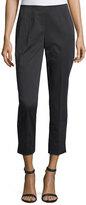 Lafayette 148 New York Side-Zip Cropped Pants, Black