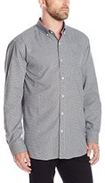 Cutter & Buck Men's Long-Sleeve Granna Stain Resistant Houndstooth Shirt