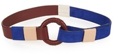 Jonathan Saunders Contrast leather and suede waist belt