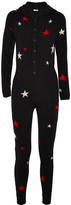 Chinti and Parker Hooded Star-intarsia Cashmere Jumpsuit - Navy
