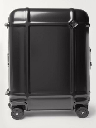 FPM Milano Globe Spinner 55cm Leather-Trimmed Polycarbonate Carry-On Suitcase - Men - Black