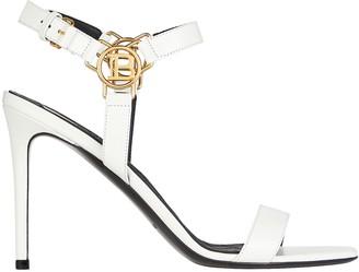 Balmain Pernille Logo Leather Sandals