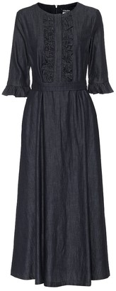 S Max Mara Frutto denim midi dress