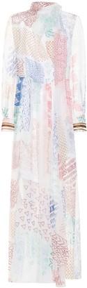 Chloã© Printed silk chiffon gown