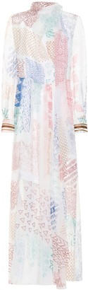 Chloé Printed silk chiffon gown
