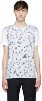 Carven Blue Walking Man T-Shirt