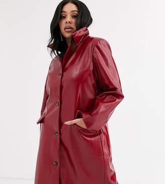 Unique 21 Hero Plus trench coat in red vinyl