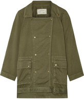 Current/Elliott The Infantry Cotton-gabardine Jacket - Army green