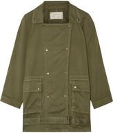 Current/Elliott The Infantry Cotton-gabardine Jacket - Army green