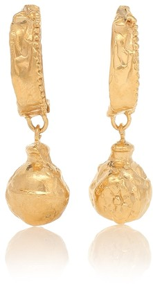 Alighieri The Fragments on the Shore 24kt gold-plated earrings