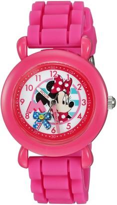Disney Girls' Minnie Mouse Analog-Quartz Watch with Silicone Strap