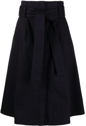 P.A.R.O.S.H. belted A-line midi skirt