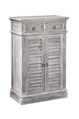 Sunset Trading Shabby Chic Cottage Shutter Cabinet