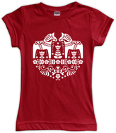 Urban Smalls Red Dala Horse Fitted Tee - Toddler & Girls