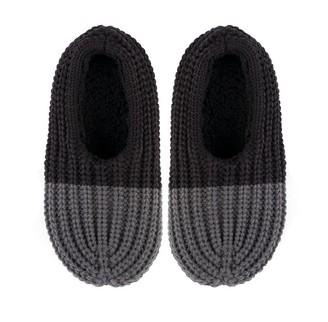 Verloop Colorblock Rib Slippers Black Grey S/M
