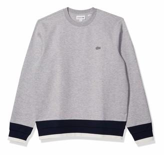 Lacoste Men's Long Sleeve Semi Fancy Crewneck Sweatshirt
