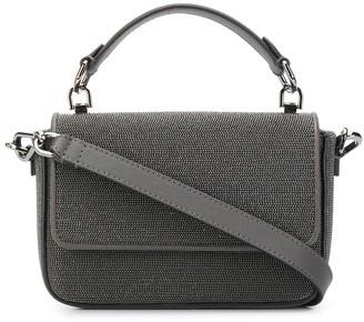 Brunello Cucinelli metallic beaded shoulder bag