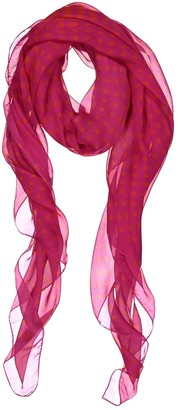 Alexander McQueen Pink Silk Scarves