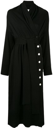 AKIRA NAKA side button tie waist cardi-coat