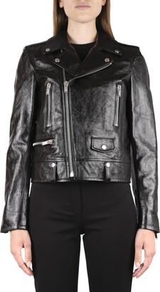 Saint Laurent Black Color Leather Biker Jacket