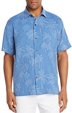 Tommy Bahama Digital Palm Short-Sleeve Silk Jacquard Classic Fit Shirt