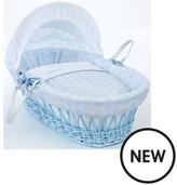 Clair De Lune Speckles Moses Basket -Blue