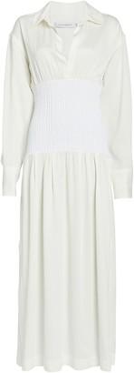 CHRISTOPHER ESBER Smocked Shirt Dress
