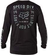 Fox Black MX Raised Long-Sleeve Tee