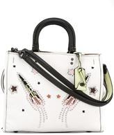 Coach stud-embellished tote bag - women - Cotton/Leather/metal - One Size