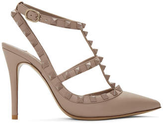 Valentino Pink Garavani Tonal Rockstud Heels