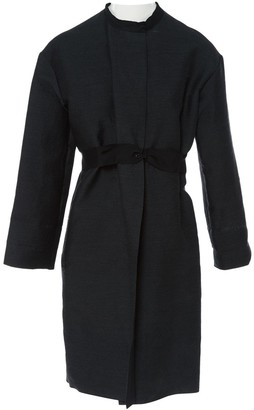 Lanvin Anthracite Wool Coat for Women