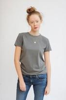 American Vintage Vegiflower Short Sleeve T Shirt In Metal - L
