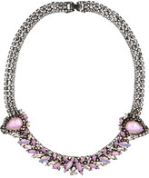 Erickson Beamon Young And Innocent Oxidized Gunmetal-tone Swarovski Crystal Necklace - Silver