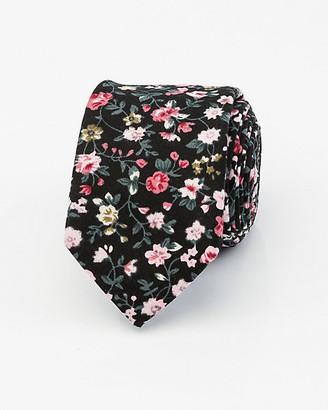 Le Château Floral Print Cotton Tie