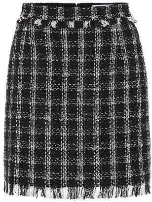 MSGM Tweed cotton-blend miniskirt