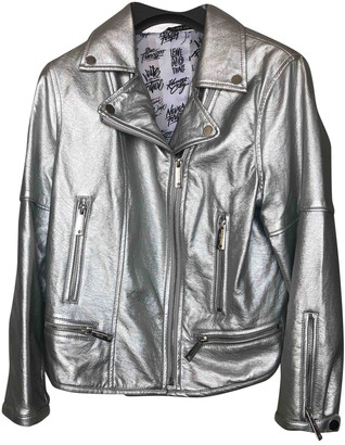 Silvian Heach Silver Synthetic Jackets