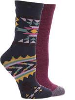 Lucky Brand Women's Geometric Women's Crew Socks - 2 Pack
