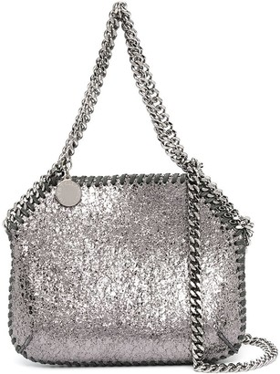 Stella McCartney mini Falabella metallic shoulder bag