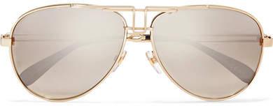 Givenchy Aviator-style Gold-tone Sunglasses