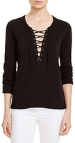 Pam & Gela Lace-Up Top
